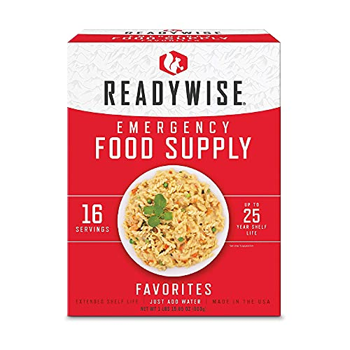 ReadyWise Emergency Survival Freeze Dried Food Favorites Sample