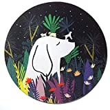 Custom Original Nature Series Mouse Pad (Dogs and Tropical Plants)