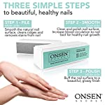 Beauty Shopping Onsen Professional Nail Buffer, Ultimate Shine Nail Buffing Block With 3 Way Buffing
