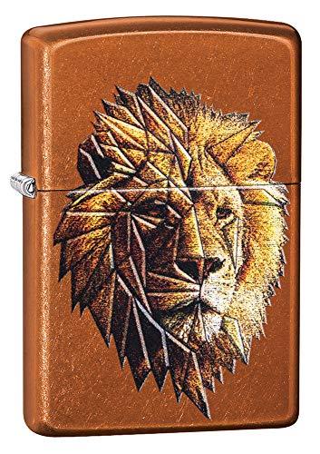 Zippo unisex aansteker, motief leeuw, windbestendig, toffee, regular