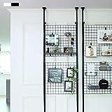 Casamaru Magic Partition Medium (Steel) 4-in-1 Home Furniture Offering Storage/Organizer/Room Divider/Photo Display, Height Adjustable (Black,Medium)
