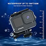 Kupton Accessories Kit Bundle Compatible with GoPro HERO9, Waterproof Housing + Glass Screen Protector + Silicone Case… 10 📷【60m/196ft Waterproof Housing Case】Kupton housing case has tight buckle and upgraded waterproof seal, providing ultimate protection for your GoPro during extreme outdoor activities and deep-water diving. 📷【Silicone Case Set】New Version Bundle compatible with GoPro HERO9 adds daily protection set for your camera, including silicone sleeve case, lanyard as well as silicone lens cap. Silicone protective case with light but strong materials fits your camera snugly. Lanyard well solves the problem of carrying for outdoor video activity. 📷【Tempered Glass Screen Protector】Tempered glass protector with a thickness of only 0.3mm brings crystal viewing experience, protecting screen and lens of your camera from dust, fingerprints, drops, scratches and bumps.