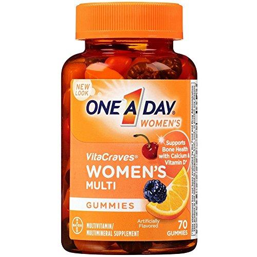 One-A-Day Women's VitaCraves Multivitamin Gummies ,70 Gummies, 3 Pack