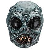 Hautton Máscara de Halloween para Adulto, Máscara Espeluznante Látex, Mascarilla Cubrecabezas Completa, Cara Azul para Fiesta de Disfraces