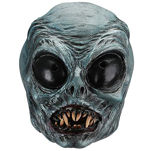 Hautton Grusel Horror Clown Maske Gruselig mit Blaugesicht für Erwachsene Fasching Karneval Halloween, Cosplay Vollmaske, Latex Ganzgesicht Kostüm Maske für Kostümparty