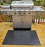 G-Floor Gas Grill Mat - Diamond Tread 47'x32' in Midnight Black
