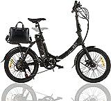 KGK 20' Folding Electric Bike for Adults Teens Elder 20MPH 50Miles Foldable Electric Commuter Bicycle for Women Men,7 Speed Adult Electric Hybrid Bike,350W Low Step-Thru Cruiser E-Bike Mountain Bike