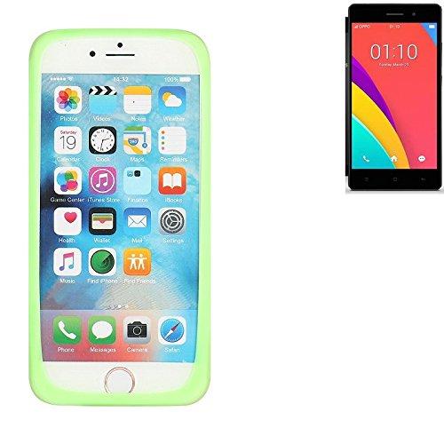 K-S-Trade® Für Oppo R5s Silikonbumper/Bumper Aus TPU, Grün Schutzrahmen Schutzring Smartphone Case Hülle Schutzhülle Für Oppo R5s