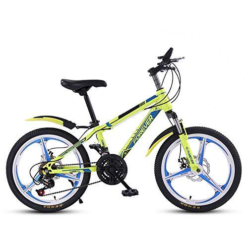 cuzona Mountainbike männlich 20-Zoll-Single-Speed-Kindersportwagen Licht Offroad-Rennen-21 Speed_21-Speed fluoreszierend gelb Einrad Sammlung und Kauf Priorität Lieferung_20 Zoll
