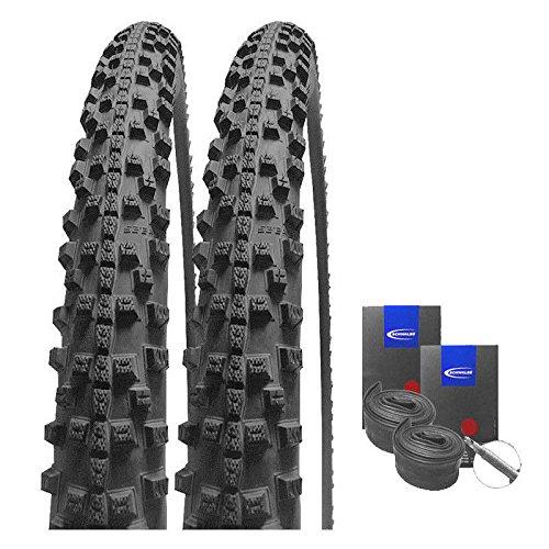 Set: 2 x Schwalbe Smart Sam Trekking Cross Reifen 47-622 / 28x1.75 + Schwalbe SCHLÄUCHE Rennradventil