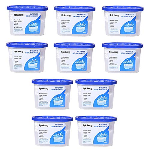 Dehumidifier 500ml Condensation Remover Moisture Absorber, Dehumidifiers for Damp, Mould, Moisture in Home, Kitchen, Wardrobe, Bedroom, Caravan, Office, Garage, Bathroom, Basement (10)