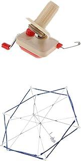 chiwanji かせくり器 折りたたみ式 玉巻器 玉巻機 手動 糸巻き 編み物 低雑音