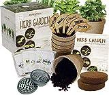 Indoor Herb Garden Growing Seed Starter Kit Gardening Gift - Thyme, Parsley, Chives, Cilantro, Basil, USDA...