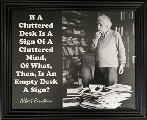 Desiderata Gallery Albert Einstein Messy Desk Gerahmtes Fotokarton, 25,4 x 30,5 cm