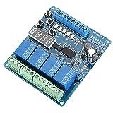 Taidda- Modulo relè Multifunzione, 8-36 V LED a 4 canali Multifunzione relè di Ritardo r...