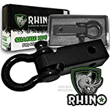 RHINO USA COMBO Shackle Hitch Receiver & 30' Tow Strap, Best Towing...