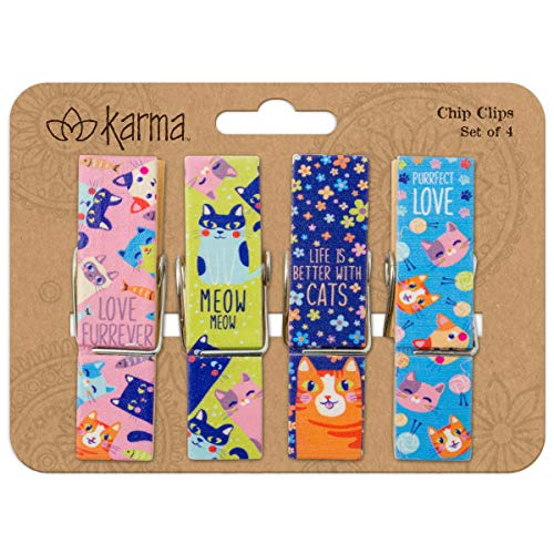 Karma Gifts Chip Clips, OS, Cat
