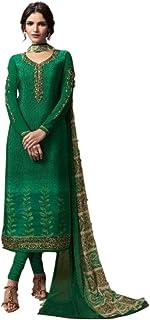 بنطال سلوار كاميز كورتا بانت مع وشاح دوباتا ثقيل من خامة غير مخيطة، بتصميم باكستاني هندي تقليدي
