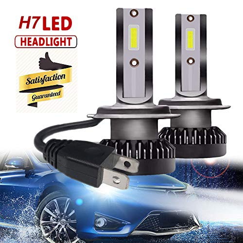 StepWorlf 2pcs H7 Coche Automotive Mini LED Bulbo