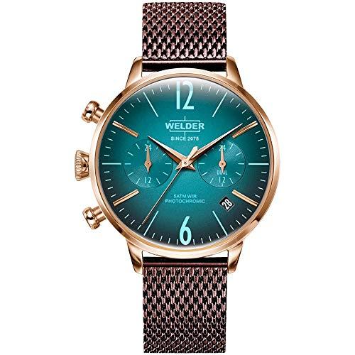Welder Moody Damen Uhr analog Quarzwerk mit Edelstahl Armband WWRC610