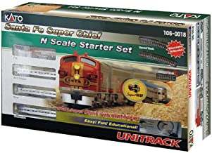 Kato USA Model Train Products N Scale Santa Fe Super Chief Starter Set