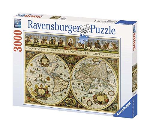 Ravensburger 17054 - Blaeuw - Große Weltkarte, 1665