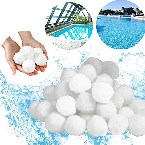 Ouhigher Filter Balls Filterbälle Filtermaterial 700g ersetzen 25 kg Filtersand Sandfilteranlage für Pool Sandfilter Filteranlage
