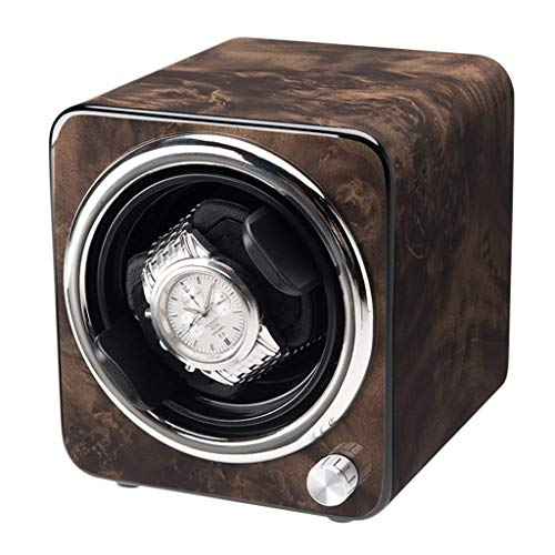FFAN Enrollador de Reloj Enrollador de Reloj, Reloj Individual para el hogar Caja de Reloj silenciosa Portátil Mini 1 + 0 Girar Relojes mecánicos automáticos Cajas de bobinado