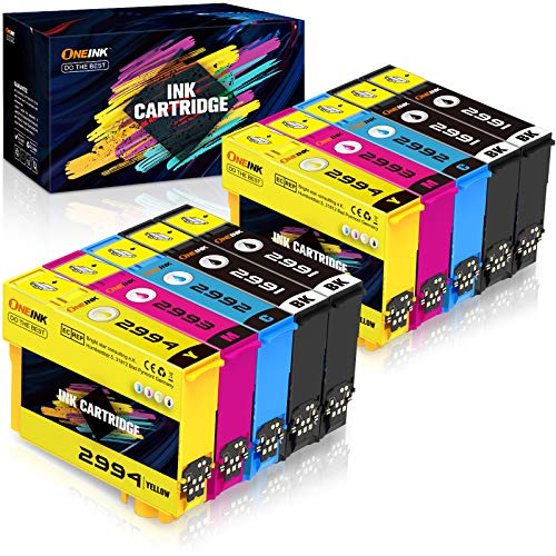 10 ONEINK 29XL - Cartuchos de tinta compatibles con Epson 29 XL compatible con Expression Home XP-235 XP-245 XP-247 XP-255 XP-257 XP-332 XP-335 XP-342