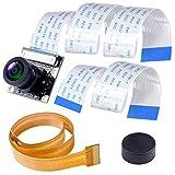 Smraza Raspberry Pi用 カメラモジュール hdmi 160度FoV 1080p 高解像度 魚眼レンズ ラズパイ 4モデルB / 3 B + / 3 B / 2 B/A/B/Zeroに適用 FPCケーブル付き