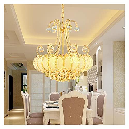 GZXYKJ Colgando Lámpara Lujas de Cristal de Lujo Lámpara LED para Sala de Estar Dormitorio Corredor Cocina Moderno Techo araña iluminación Lustre (Lampshade Color : D60cm)