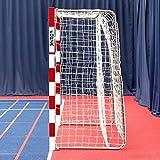 FORZA Redes para Porterías de Balonmano 3m x 2m – Red Blanca de Calidad Profesional (Simple)