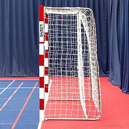 FORZA Redes para Porterías de Balonmano 3m x 2m – Red Blanca de Calidad Profesional