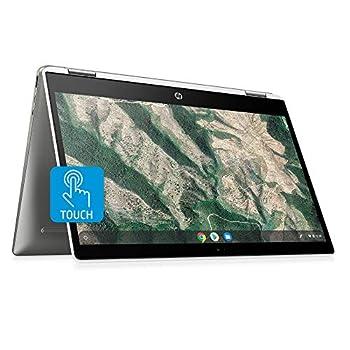 HP Chromebook x360 14-inch HD Touchscreen Laptop Intel Celeron N4000 4 GB RAM 32 GB eMMC Chrome  14b-ca0010nr Ceramic White/Mineral Silver