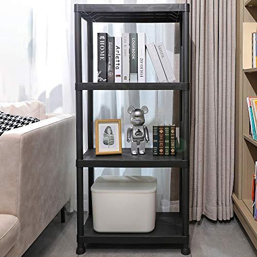 "Mu 4-Tier Storage Shelves Heavy Duty Free Standing Interlocking Multipurpose Display Rack No Tools Required 24""L X 12""W X 522""H"