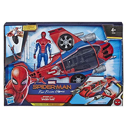 Spider-Man: Far from Home - Spider-Man con Spider-Jet, Action Figure con Veicolo, 15 cm