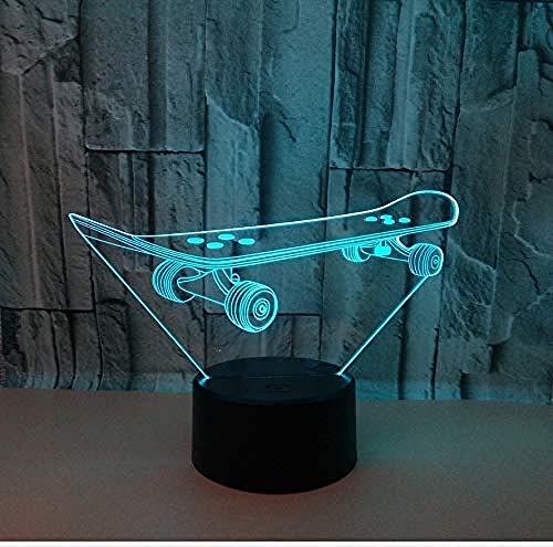 3D Nachtlicht 16 Farben Berührungssteuerung Zuhause Dekor Tischleuchte Roller