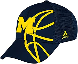 adidas Michigan Wolverines Structured Flexfit Mesh Back Hat - S/M - TY55Z