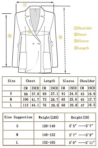 DAVID.ANN Men's Casual Slim Fit One Button Center Vent Blazer Jacket,Blue #3625,Medium