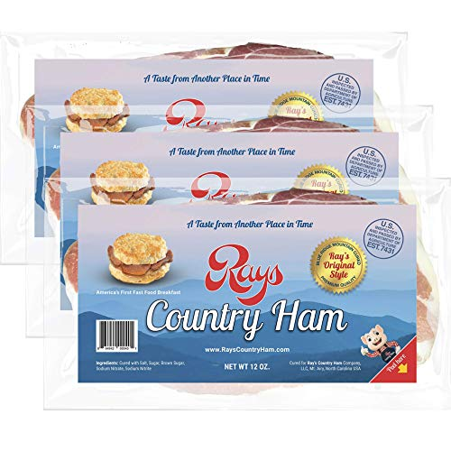 Rays Country Ham - 2 1/4 lb. / 3 - 12 oz. Packs - Blue Ridge Mountain Cured