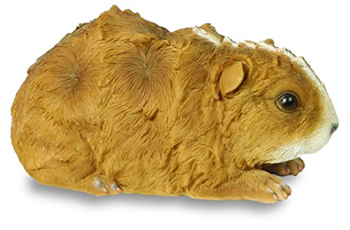 Guinea Pig Ornament - Brown and White Resin