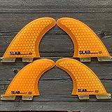 Slab-Surf Fins Quad Hexacore Orange Talla L FCS 2 Compatible