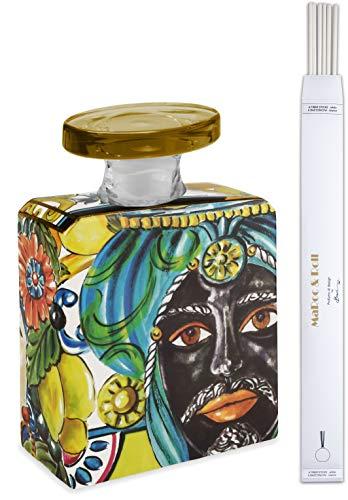 Maroc & Roll – Sicily Botella Magnum difusor perfume ambiente de porcelana con varillas 3,5 l – SBTMAXI.B&R02