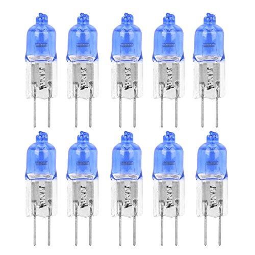 12V, 10Stück, AC DC, 10W, Halogen-Leuchten mit blauer Linse, G4JC Spotlight, Xenon-Ersatz, Kaltweiß