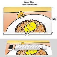 ぐでたま マウスパッド 光学マウス対応 パソコン 周辺機器 超大型 防水 洗える 滑り止め 高級感 耐久性が良い 40*75cm