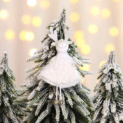 EDCV Decoraties Poppen Kleine hanger Veren Kerstman Sneeuwman Elanden Engel Open haard Raamornamenten, Elanden