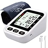 Blood Pressure Monitor Upper Arm, AOKON Blood Pressure Cuff for Home Use with Speaker, Fully Automatic Blood Pressure Machine with Large LCD Display - Accurate BP Monitor Kit - 2 Users 200 Memory