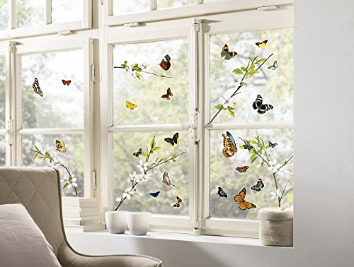 Fensterbild Dekorative Blumenmotive