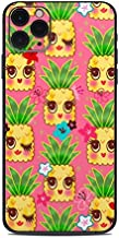 Happy Kawaii Pineapples Protector Skin Sticker Compatible with Apple iPhone 11 Pro Max - Ultra Thin Protective Vinyl Decal Wrap Cover