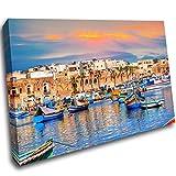 LoveSticker CH1205 Leinwandbild, Motiv Port Malta